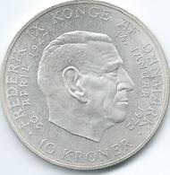 Denmark - Margrethe II - 1972 - 10 Kroner - Death Of Frederik IX And Accession Of Margrethe II - KM858 - Denmark