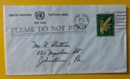 10156 - Enveloppe New-York 4.03.1954 Verso Cachet Violet United Nation Verified No 4 - New-York - Siège De L'ONU
