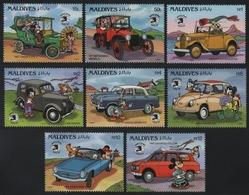 Malediven 1989 - Mi-Nr. 1359-1366 ** - MNH - Walt Disney - Maldives (1965-...)