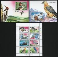 Mongolei 1993 - Mi-Nr. 2445-2452 & Block 215-216 ** - MNH - Vögel / Birds - Mongolie