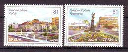 Serbia 2020 50 Y. Citys CACAK KRUSEVAC MNH - Serbia