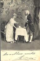 Couple :  Scène En Costume XVIIIe - Signée Th BAUER WIEN VII   Dos Non Divisé - Couples