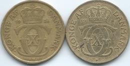 Denmark - Christian X - 2 Kroner - 1926 - HCN ♥ GJ - KM825.1 & 1939 - N ♥ GJ - KM825.2 - Denmark