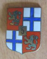 Insigne Militaire - 5e Région Militaire, Etat Major - Métal Et émail - FIA LYON - Heer