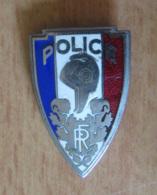 Insigne De Police Nationale, République Française - Métal Et émail - COINDEROUX - Police
