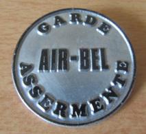 Badge - AIR-BEL - Garde Assermenté - Diamètre 46 Mm - Insignes & Rubans