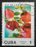 128. CUBA (1C) 1988 USED STAMP MOTHERS DAY, FLOWERS, ROSES - Cuba