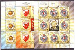 Serbia 2020 SPORT Football 100 Y, RAFNICKI PARTIZAN CRVENA ZVEZDA 3 Mini Sheet (8+L) MNH - Serbia