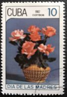 128. CUBA (10C) 1987 USED STAMP MOTHERS DAY, FLOWERS, ROSES - Cuba