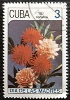 128. CUBA (3C) 1987 USED STAMP MOTHERS DAY, FLOWERS, ROSES - Cuba