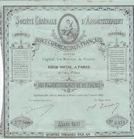 PARIS SOCIETE GENERALE D AMORTISSEMENT BONS COMMERCIAUX FRANCAIS BON  DE 25 FRANCS 2 Eme SERIE N° 2371 ANNEE 1881 - Actions & Titres