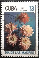 128. CUBA (13C) 1987 USED STAMP MOTHERS DAY, FLOWERS - Cuba