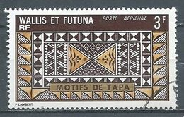 Wallis Et Futuna Poste Aérienne YT N°58 Motifs De Tapa Oblitéré ° - Luftpost