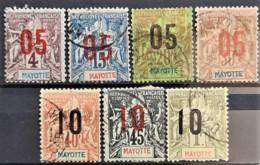 MAYOTTE 1912 - Canceled - YT 22, 23, 24, 26, 27, 28, 31 - Mayotte (1892-2011)