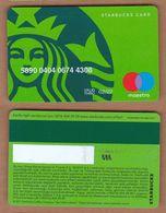 AC - STARBUCKS COFFEE PLASTIC CARD No # 686 VALID THRU - 02 / 22 - Altri