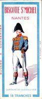 BISCOTTE ST MICHEL A NANTES  (tenue Empire : Capitaine De Vaisseau 1808) - Biscottes