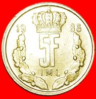 · CROWN: LUXEMBOURG ★ 5 FRANCS 1986 WIDE RIM! UNCOMMON! LOW START ★ NO RESERVE! - Luxembourg