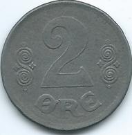 Denmark - Christian X - 2 Øre - 1919 - KM813.2a - WWI Iron Coin - Denmark