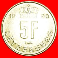 · CROWN (1989-1995): LUXEMBOURG ★ 5 FRANCS 1990! LOW START ★ NO RESERVE! - Luxembourg