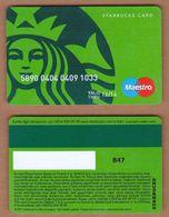 AC - STARBUCKS COFFEE PLASTIC CARD No # 847 VALID THRU - 12/ 14 - Altri