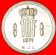 · CROWN: LUXEMBOURG ★ 10 FRANCS 1971! MINT LUSTER! LOW START ★ NO RESERVE! - Luxembourg