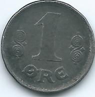 Denmark - Christian X - 1 Øre - 1918 - KM812.1a - WWI Iron Coin - Denmark