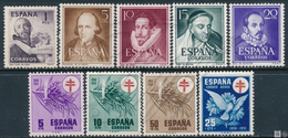 España   - Año Completo -  1950 Sin 1075/83 / Foto Generica ** - Années Complètes