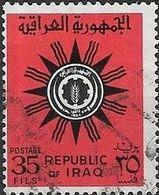 IRAQ 1962 Aerogramme Stamps - 35f - Black And Red FU - Iraq