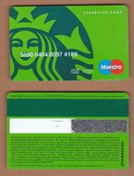 AC - STARBUCKS COFFEE PLASTIC CARD VALID THRU - 12/ 21 - Altri