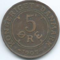 Denmark - Frederik VIII - 1907 - 5 Øre - KM806 - Denmark