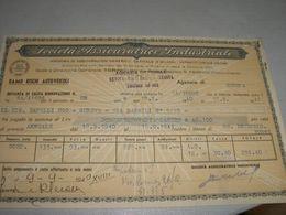 QUITANZA DI TACITA RINNOVAZIONE SOCIETA' ASSICURATRICE INDUSTRIALE 1940 - Banca & Assicurazione