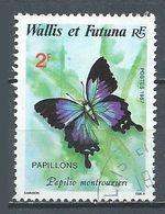 Wallis Et Futuna YT N°353 Papillon Papillio Montrouzieri Oblitéré ° - Oblitérés