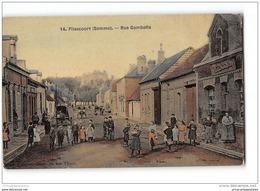 CPA 80 Flixecourt Rue Gambetta - Flixecourt