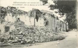 SAINT CANNAT TREMBLEMENT DE TERRE DU 11 JUIN 1909 MAISONS BOULEVARD NATIONAL - Altri Comuni