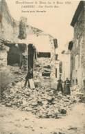 LAMBESC TREMBLEMENT DE TERRE DU 11 JUIN 1909 UNE VIEILLE RUE - Lambesc