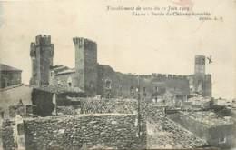 SALON TREMBLEMENT DE TERRE DU 11 JUIN 1909 PARTIE DU CHATEAU ECROULE - Salon De Provence