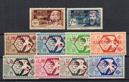 !!! PRIX FIXE : AEF, SERIE LIBERATION N°181/190 NEUVE ** GOMME BLANCHE. RARE DANS CETTE QUALITE - Unused Stamps