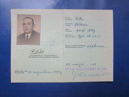 Y1944  WWII  AUSWEIS For  Ship CAPTAIN /Schiffskapitän /   Capitaine De Navire   Germany Occupied  Latvia / Riga - Documents