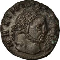 Monnaie, Maximin II Daia, Follis, 312, Thessalonique, TTB+, Cuivre - 7. El Impero Christiano (307 / 363)