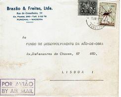 BRAZÃO & FREITAS , LTDA , Funchal , Madeira , 1972 , Windmill  Stamp - Windmills