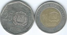 Dominican Republic - 2005 - 10 Pesos (KM106) & 25 Pesos (KM107) - Dominicana