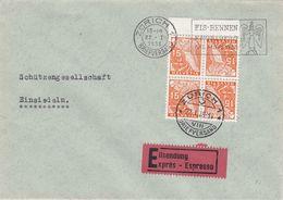 Suisse - 22/01/1938 - Tête-bêche - N°YT 274 Bloc - Lettre Express De Zurich Pour Einsiedeln - Kehrdrucke
