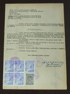 Yugoslavia 1957 Local SR. MITROVICA Revenues On Document BB5 - Covers & Documents