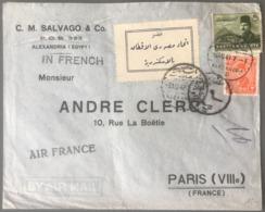 Egypte, Lettre D'Alexandrie 1949 Pour Paris - Vignette En Arabe - (B2850) - Lettres & Documents