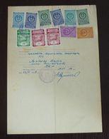 Yugoslavia 1956 Local STARA PAZOVA Revenues On Document BB7 - Covers & Documents