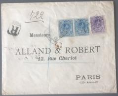 Espagne, Lettre Recommandée De Barcelone Pour Paris - (B2851) - 1931-50 Lettres