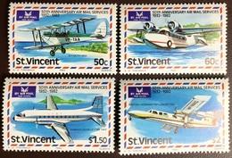St Vincent 1982 Airmail Services Aircraft MNH - St.Vincent (1979-...)