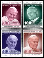 DJIBOUTI 2020 MNH Pope John Paul II. Papst Paul II. Pape Jean-Paul II. 4v - IMPERFORATED - DHQ2023 - Papas