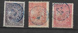 3 Beaux  Cachets Bleus  DIEGO SUAREZ  Sur Timbres ZEBU N° 63  N° 67 Et N° 68  Voir 2 Scans - Madagascar (1889-1960)