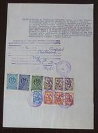 Yugoslavia 1956 Local KIKINDA Revenues On Document BB15 - Covers & Documents